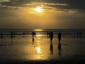 Sunset aan Indische oceaan