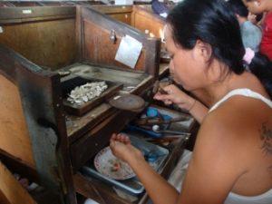 Zilver en goed smederijen op Bali